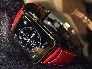 Apple Watch 38mmとGUTTUSO(グットゥーゾ)を組み合わせたお客様